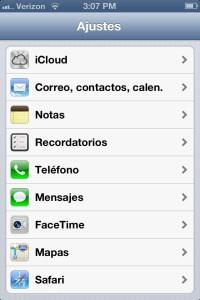 iPhone With Spanish Language Setting