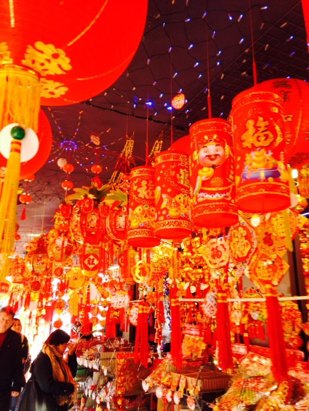 Paper lanterns are also used to decorate for Chinese New Year. So many to choose from!
