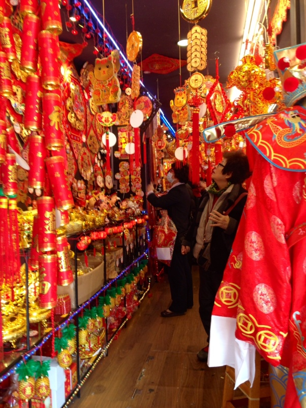 Shopping for Chinese new year decorations in Taiwan